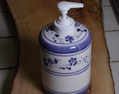 bitcoin Soap dispenser Bathroom blu blue provence decorations flowers from italy