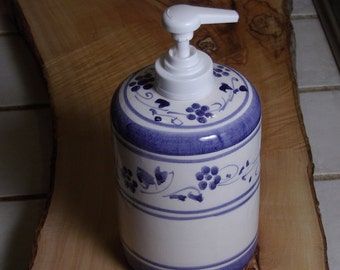 Soap dispenser Bathroom blu blue provence decorations flowers from italy