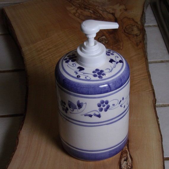 Items Similar To Soap Dispenser Bathroom Blu Blue Provence Decorations Flowers From Italy On Etsy