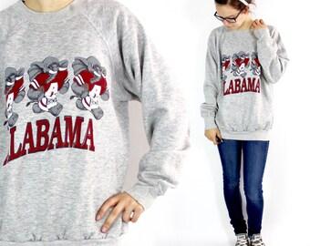 Vintage University of Alabama Crimson Tide Sweatshirt Large