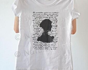 Jane Austen shirt-literary shirt-Jane Austen tank top-book quote tee-silhouette shirt-persuasion tank top-women tees-NATURA PICTA NPTS057