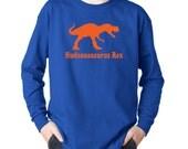 T rex dinosaur long sleeve t shirt for boys, Personalized kids birthday dinosaur t shirt, gift for boys