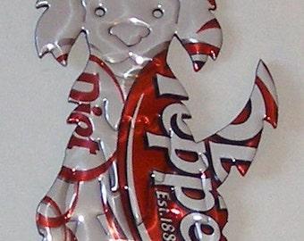Scruffy Dog Magnet ----- Diet Dr. Pepper Soda Can