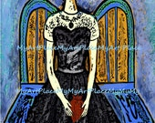 Frida Kahlo Art Print, 4x6 Print,  Frida Portraits, Mexican Art, Folk Art, Mexico, Latin Art, Corazon, Milagro, Frameable Art, Miniature Art