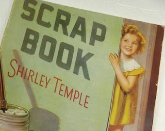 Vintage Shirley Temple Scrap Book 1935 Unused