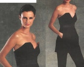 Donna Karan strapless evening tunic & pants pattern -- Vogue American Designer 1076