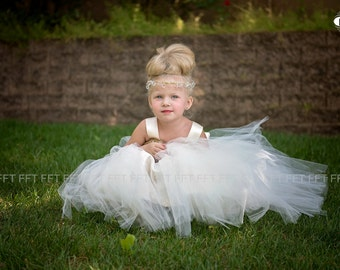 Gold Sequin Flower Girl Tutu Dress