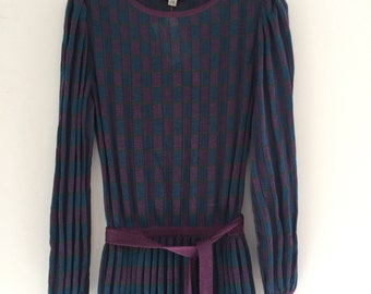 Vintage 70's Albert Nipon Italian Knit Dress M