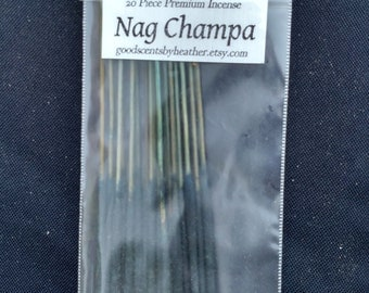 Nag Champa Incense Sticks - 20 piece