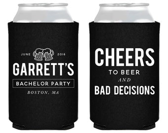 Personalized Bachelor Party, Bachelor Party Favors, Bachelor Party, Cheers, Custom Can Coolers, Stag Party Favor, Bachelor Party Gifts, 1410