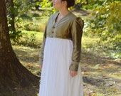 1810's Regency/ Jane Austen Green Faux Silk Spencer Jacket