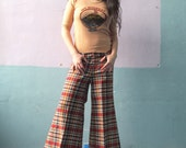 Vtg 70s Super Wide Plaid Bells / Dazed and Confused Pants