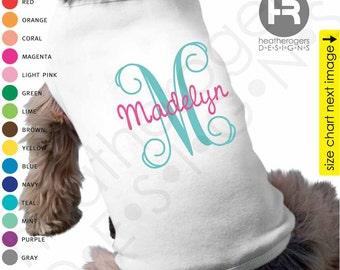 Monogram Dog Shirt - Personalized Dog Shirt