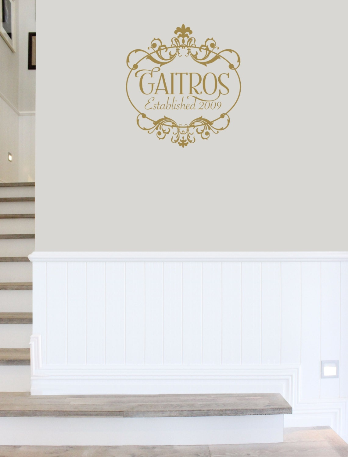 Family Monogram Wall Decal Family Name Established Wedding - Family monogram wall decals