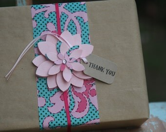 30 Thank You Tags ~ Mother's Day ~ Parties ~ Weddings ~ Celebrations ~ Florist Tags