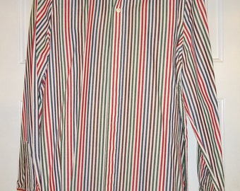 Vintage Women's Blouse J G Hook Size 14 Striped Stripes Casual