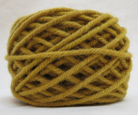 TUMERIC, 100% Wool, 2 oz. 43 yards, 4-Ply, Bulky weight or 3-ply Worsted weight, already wound into cakes, ready to use. Made to order