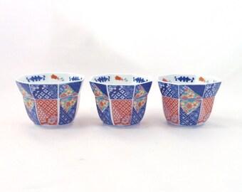 Vintage Imari-Style Cachepots, Set of 3, Free Shipping