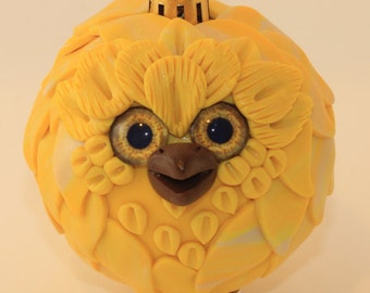 Daisy - Polymer Clay Owl Ornament