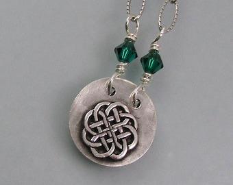 Anam Cara secret message locket necklace - soul friend Celtic knot necklace - hidden message necklace - Irish friendship quote necklace