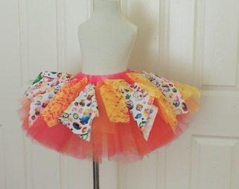 Shopkins tutu skirt shopkins outfit shopkins birthday party skirt dress summer skirt for girls shopkins tea party skirt tutu rag skirt