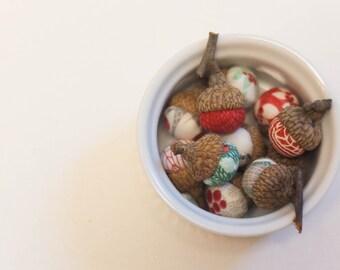 Winterberry (by Moda) Christmas Fabric Acorns