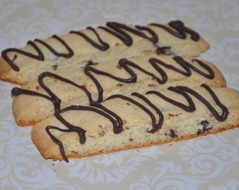 Biscotti  Cookies Chocolate Dipped Christmas Holiday Cookie Gift