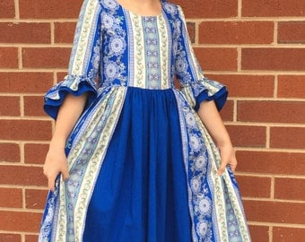 Custom colonial dress sizes 7 or 8