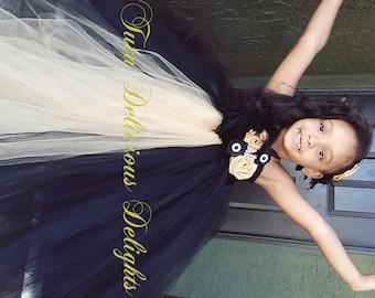 Gold and Black Tutu Dress, Flower Girl Tutu, Wedding Tutus, Pageant Tutu Dress, Gold Tutu Dress, Kids Photo Props, Birthday Tutus