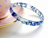 Forget Me Not Flower Resin Stacking Bangle - Flowers Jewellery