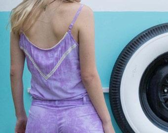 Summer of Love Romper Lilac - Fashion Boho Bohemian Festival Tribal Gypsy Designer Tie Dye Hippie