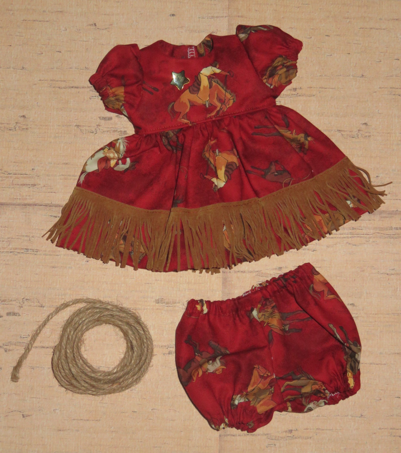 Handmade 12 14 Inch Baby Doll Clothes Cowgirl