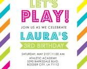 Let's Play Birthday Invitation (PDF)