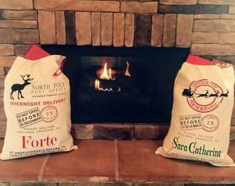 SALE Personalized Santa Sack