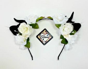 Lolita Antler Headband-Gothic-Lolita Gothic-Lolita Accessories-Horn-Antler-Black-Harajuku-Horns-Halloween-Classic Lolita-Hime-Kawaii