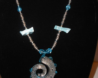 Blue Dragon Tail Potato Necklace