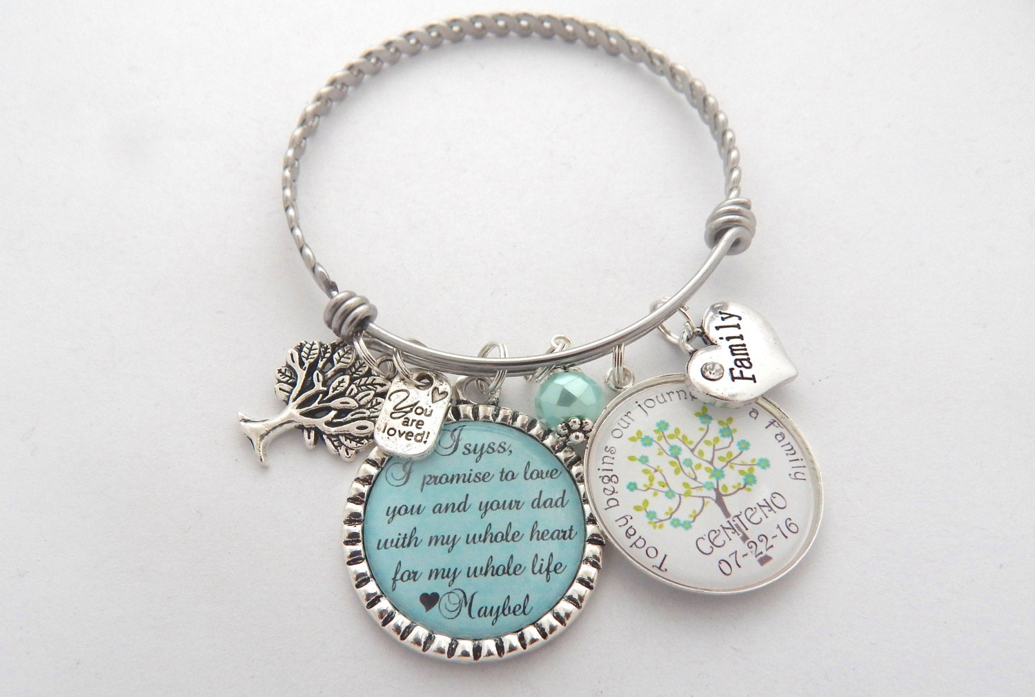 Mother Daughter Wedding Gifts: STEP DAUGHTER Wedding Gift Step Daughter Bracelet Brides