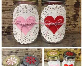 Heart Favor Jar ~ Valentines ~ Favors ~ Baked Goods ~ Treat Jars ~ Wedding Favors