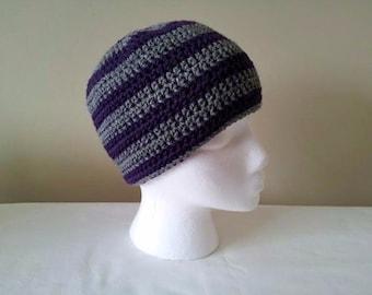 Crochet Beanie, knit Hat, knit beanie, Beanie, unisex hat, black, gray, purple