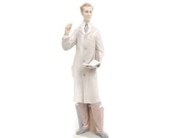 Vintage The Teacher Male Lladró 4801 Porcelain Figurine The Professor El Meastro Retired Collector Piece Made in Spain
