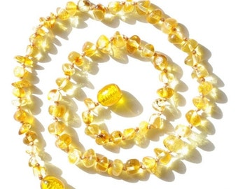 15% OFF THRU OCT Baltic Amber Baby Teething Necklace, Honey Amber Color, Necklace for Baby