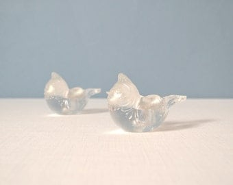 Two Bjorn Wiinblad Crystal Bird Candle Holders for Rosenthal Studio Line