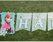 Frozen Banner - Happy Birthday