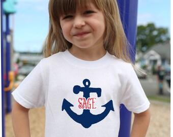 Anchor T Shirt, Nautical T Shirt, Personalized T Shirt, Anchor Shirt, Beach T Shirt, Boat Shirt, Boating Gift, Vacation Shirt, Sea shore