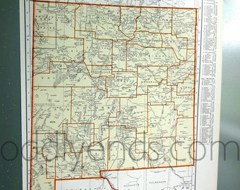 1939 New Mexico Vintage Atlas Map