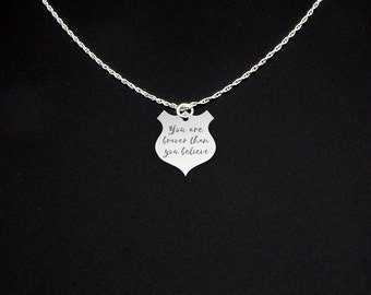 You Are Braver Than You Believe Necklace - You Are Braver Than You Believe Jewelry