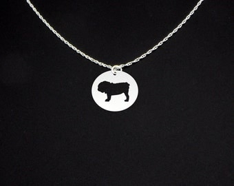 Bulldog Necklace - Bulldog Jewelry - Bulldog Gift