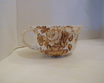 Brown CHARLOTTE Alfred Meakin Staffordshire England Large Porridge Cup Replacement Transferware RARE Hard to Find