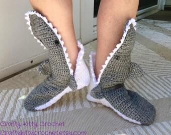 """Shark Slippers - """"Foot Eating"""" Socks - Women's, Men's, Children's, Infants Sizing Available"""