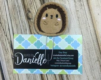 Hedgehog Planner Bookmark, Hedgehog Gift, Hedgehog Accessories, Cute Paper Clips for Planner, Felt Paper Clip